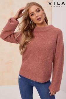 סוודר של Vila בסריגת בוקלה
