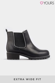 Yours Extra Wide Fit Stud Chelsea Boot