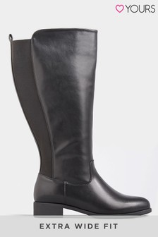 Yours Extra Wide Fit Plain Stretch High Leg Boot