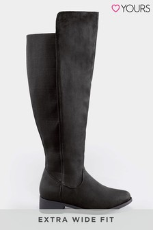 Yours Extra Wide Fit Over The Knee Boot