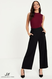 JDY Button Waist Band Trousers