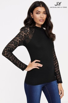 JDY Lace Sleeve Top