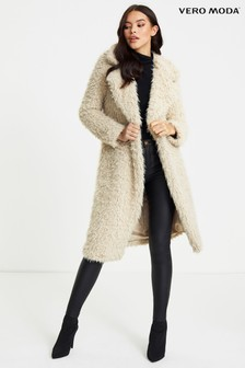 Vero Moda Long Faux Fur Jacket