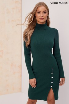 Vero Moda Long Sleeve Roll Neck Dress