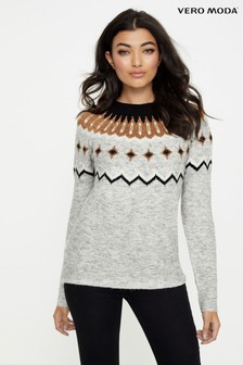 Vero Moda Long Sleeve Crew Neck Jumper