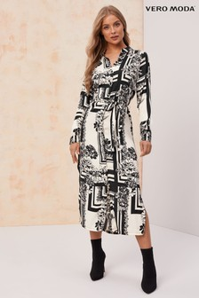 Vero Moda Long Sleeve Shirt Dress
