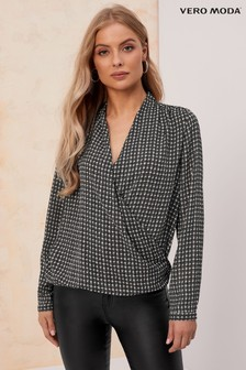 Vero Moda Long Sleeve Wrap Blouse