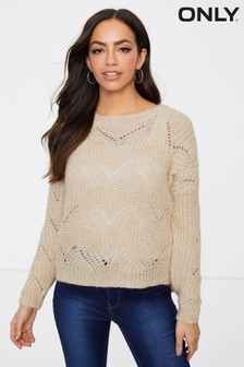Only Textured Knit Pullover