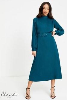 Closet High Neck Midi Dress