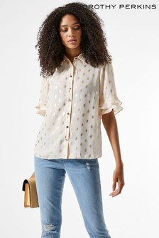 Dorothy Perkins Blush Foil Short Sleeve Shirt