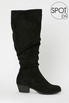 Spot On Heeled Knee Boot