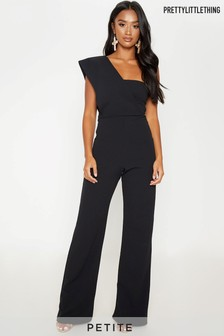 Pretty Little Thing Petite One Shoulder Jumpsuit