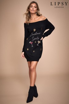 Lipsy Christmas Spirits Bardot Tunic
