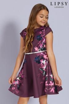 Lipsy Girl Scuba Cap Sleeve Skater Dress
