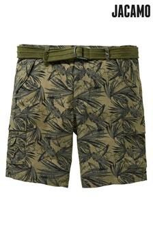 Jacamo Plus Size Printed Cargo Shorts