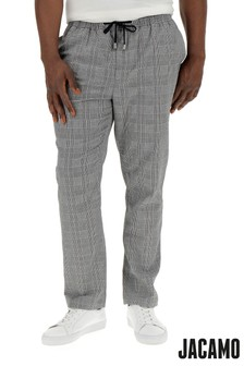 Jacamo Plus Size Check Trousers