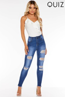 Quiz Denim Ripped Skinny Jeans