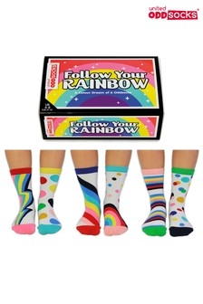 Veselé ponožky United Oddsocks Follow The Rainbow, 3 páry