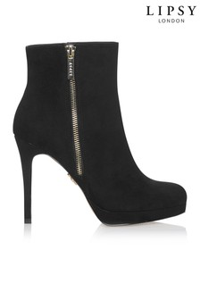 Lipsy Zip Detail Platform Ankle Boots