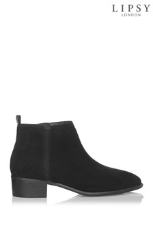 Lipsy Elastic Gusset Flat Ankle Boots