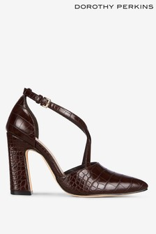 Dorothy Perkins Elmo Cross Strap High Vamp Court Shoe