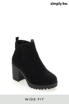 Simply Be Wide Fit Chunky Boots