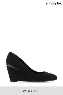 Simply Be Wide Fit Classic Wedge Courts