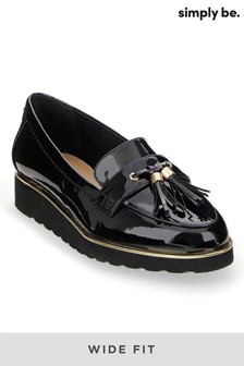 Simply Be Wide Fit Flatform Loafers