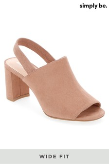 Simply Be Wide Fit Elastic Back Strap Mules