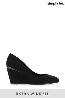 Simply Be Extra Wide Fit Classic Wedge Courts