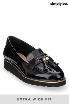 Simply Be Extra Wide Fit Flatform Loafers