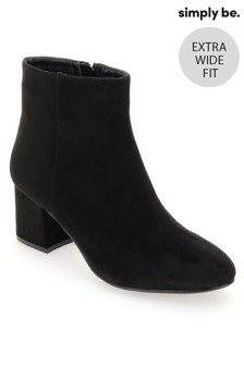 Simply Be Extra Wide Fit Low Block Heel Boots