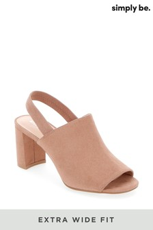 Simply Be Extra Wide Fit Elastic Back Strap Mules