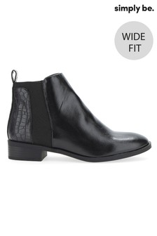 Simply Be Wide Fit Chelsea Boots