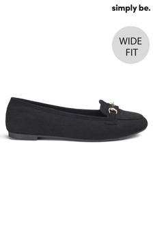 Simply Be Wide Foot Loafers
