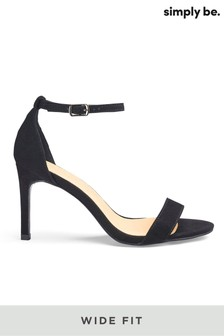Simply Be Wide Fit Barely There Sandals