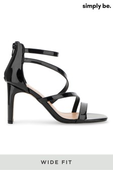 Simply Be Wide Fit Strappy Heel Sandals