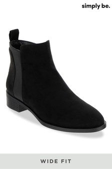 Simply Be Wide Foot Chelsea Boots