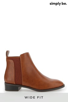 Simply Be Wide Fit Basic Chelsea Boots