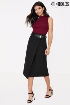 4th & Reckless Midi Skirt With Belt