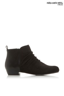 Head Over Heels Ruched Panel Detail Ankle Boots