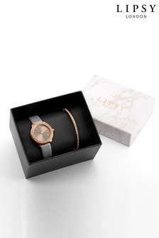 Lipsy Watch And Bracelet Gift Set