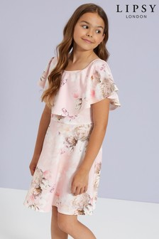 Lipsy Girl Floral Cape Dress