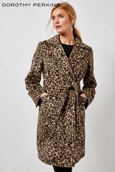 Dorothy Perkins Printed Wrap Coat