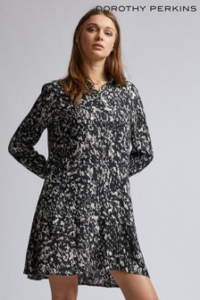 Dorothy Perkins Abstract Print Button Front Dress