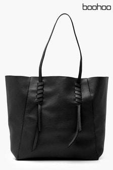 Boohoo Whipstitch Detail Shopper Tote Bag