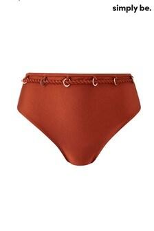 Simply Be Curve Chain Tim Bikini Bottom