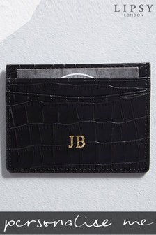 Personalised Lipsy Mock Croc Leather Card Holder By Koko Blossom