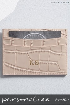 Personalised Mock Croc Leather Card Holder By Koko Blossom