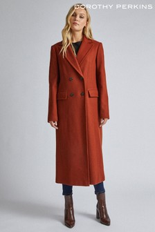 Dorothy Perkins Tall Midi Double Breasted Coat